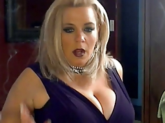 Hot Busty Mature Cougar Smoking Solo