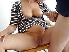 cumshot on lovely woman
