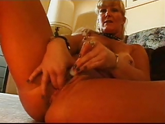 Hot Tanline Mature Lynn Ross Takes On A Pair Of Cocks