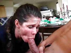 Mom sucks not her sons cock