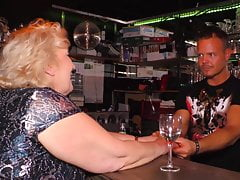 Mature lady meet and fuck young bartender