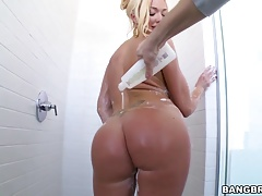 Big ass busty Summer Brielle squirts on big cock