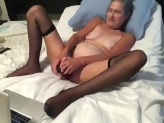 Hot MILF Enjoys Playing With Her 12 Inch Dildo Takes It Deep Mature Granny