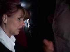 Mature blowjob and handjob guy in the cinema