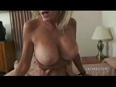 Busty cougar Cam Raye is taking a dick in her mature twat
