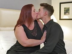 Big mom gets taboo sex from slim son