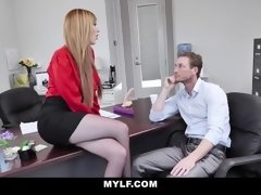 MYLF - Beautiful Milf Boss Gets Fucked Aggressively By Lean Stud