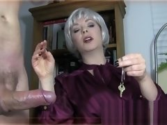 Mistress gives slave a super hard-on