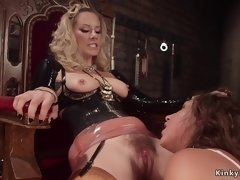 Mommy mistress ass fuck bangs young girl sub